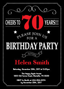 black and red birthday invitations zazzle
