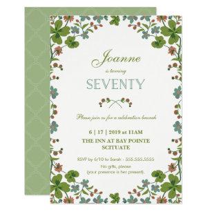 70th Birthday Invitation Seventieth Vintage Small