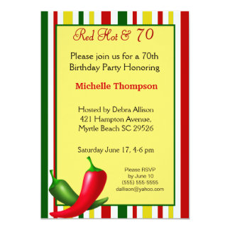 70th  Birthday Invitations