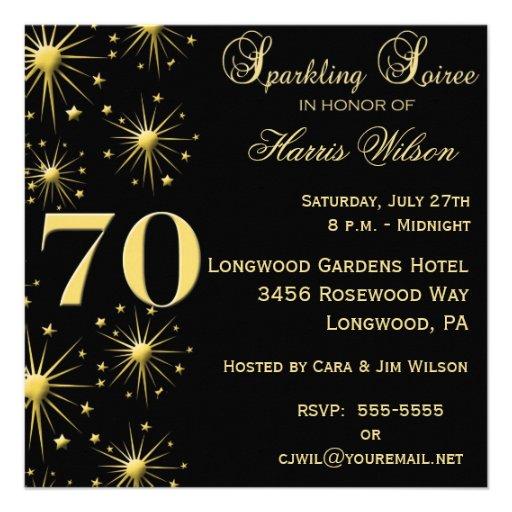 70th Birthday Invitations from Zazzle.com