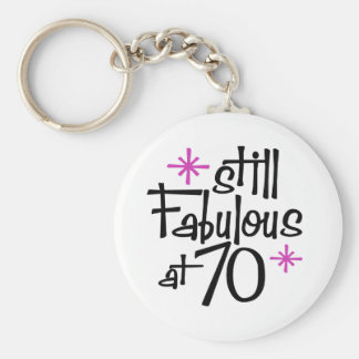 70th Birthday Keychain