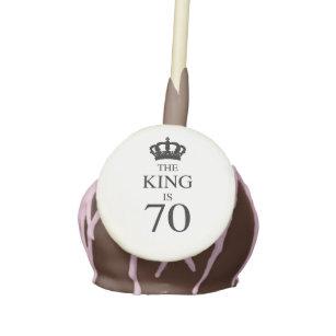 70th Birthday King Cake Pops