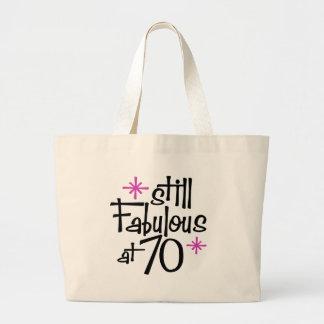70th Birthday Large Tote Bag
