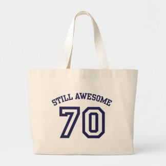 70th Birthday Large Tote Bag