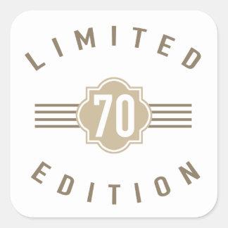 70th Birthday Limited Edition Square Sticker