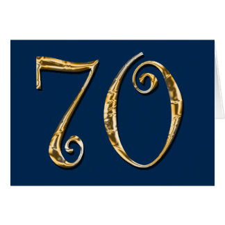 70th birthday | MENS blue gold Card