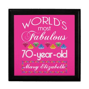 70th Birthday Gift Vintage Novelty Pink Women/'s Socks Keepsake Idea 70 Years Old