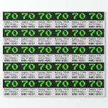 "[ Thumbnail: 70th Birthday - Nerdy / Geeky Style ""70"" and Name Wrapping Paper ]"