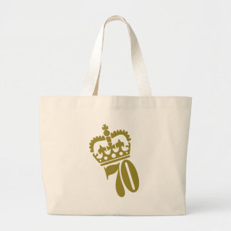70th Birthday - Number – Seventy Large Tote Bag