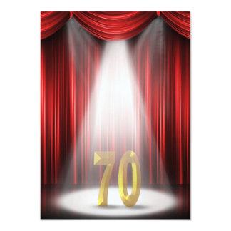 70th Birthday Party Card