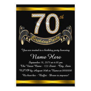70th birthday invitations announcements zazzle 70th birthday party card filmwisefo Choice Image