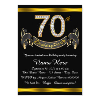 70th birthday party invitations & announcements | zazzle, Birthday invitations