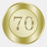70th Birthday Party Classic Round Sticker