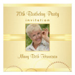 70th Birthday Party - Custom Photo Invitations