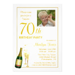 70th Birthday Party - Customized Photo Invitations
