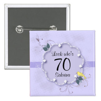 70th Birthday Party | DIY Text Button