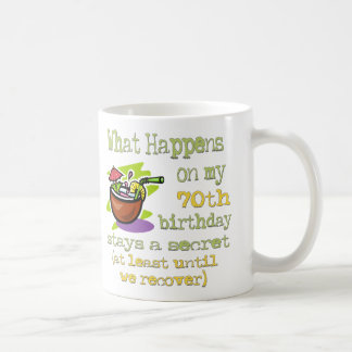 70th Birthday Party Gifts. What happens on my 70th Coffee Mug