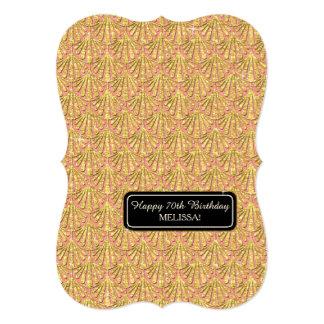 "70th Birthday Party Glam Great Gatsby Style 5"" X 7"" Invitation Card"