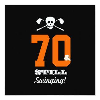 70th Birthday Party Golf - Still Swinging! Card