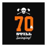 70th Birthday Party Golf - Still Swinging! Invitation