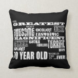 70th Birthday Party Greatest Seventy Year Old Pillow