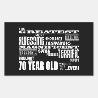 70th Birthday Party Greatest Seventy Year Old Rectangular Sticker