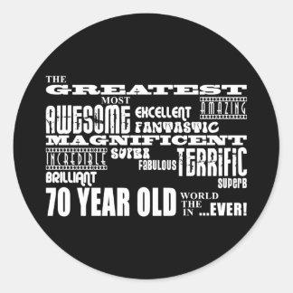 70th Birthday Party Greatest Seventy Year Old Sticker