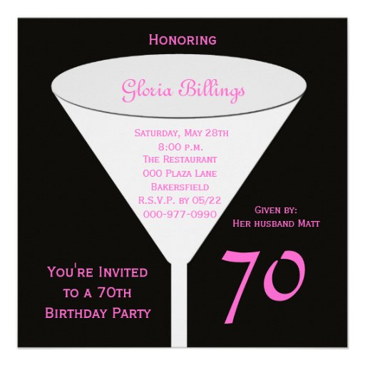 70th Birthday Party Invitation -- 70th Toast | Zazzle