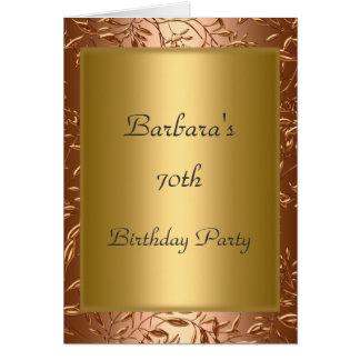 70th Birthday Party Invitation Gold