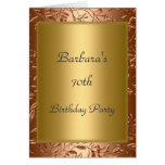 70th Birthday Party Invitation Gold Greeting Card