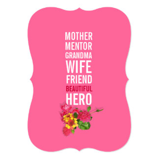 70th Birthday Party Invitation - Mom is a Hero