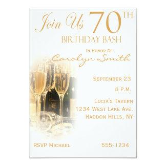 "70th Birthday Party Invitations 5"" X 7"" Invitation Card"