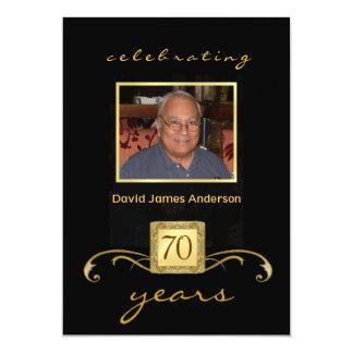 70th Birthday Party Invitations - Men's Formal