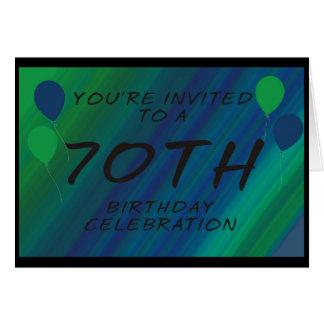 70th Birthday Party Invite Card