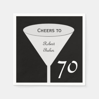 70th Birthday Party Paper Napkins