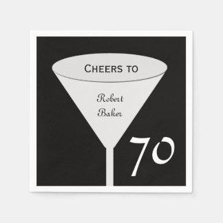 70th Birthday Party Paper Napkins Standard Cocktail Napkin