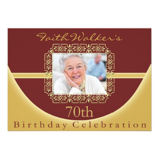 70Th Birthday Party Invitations Free was adorable invitations example