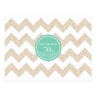 70th Birthday Party - Save the Date - Choose Color Postcard