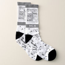 70th Birthday Party Special Personalized Monogram Socks