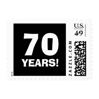 70th Birthday party stamps for seventy year old