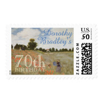 70th Birthday Party with Monet Customizable Stamps