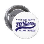 70th Birthday Pins