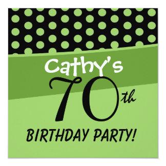 70th Birthday Polka Dots D425 Card