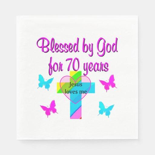 Tremendous 70Th Birthday Prayer Napkin Zazzle Personalised Birthday Cards Cominlily Jamesorg