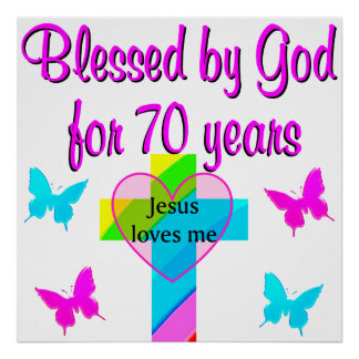 70TH BIRTHDAY PRAYER POSTER