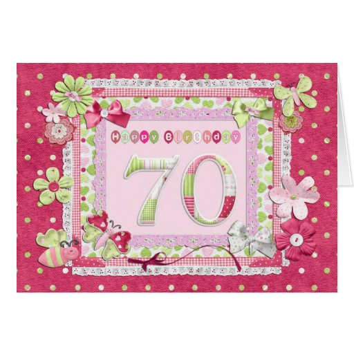 70th birthday scrapbooking style card