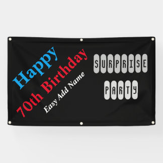70th Birthday Surprise Party Banner