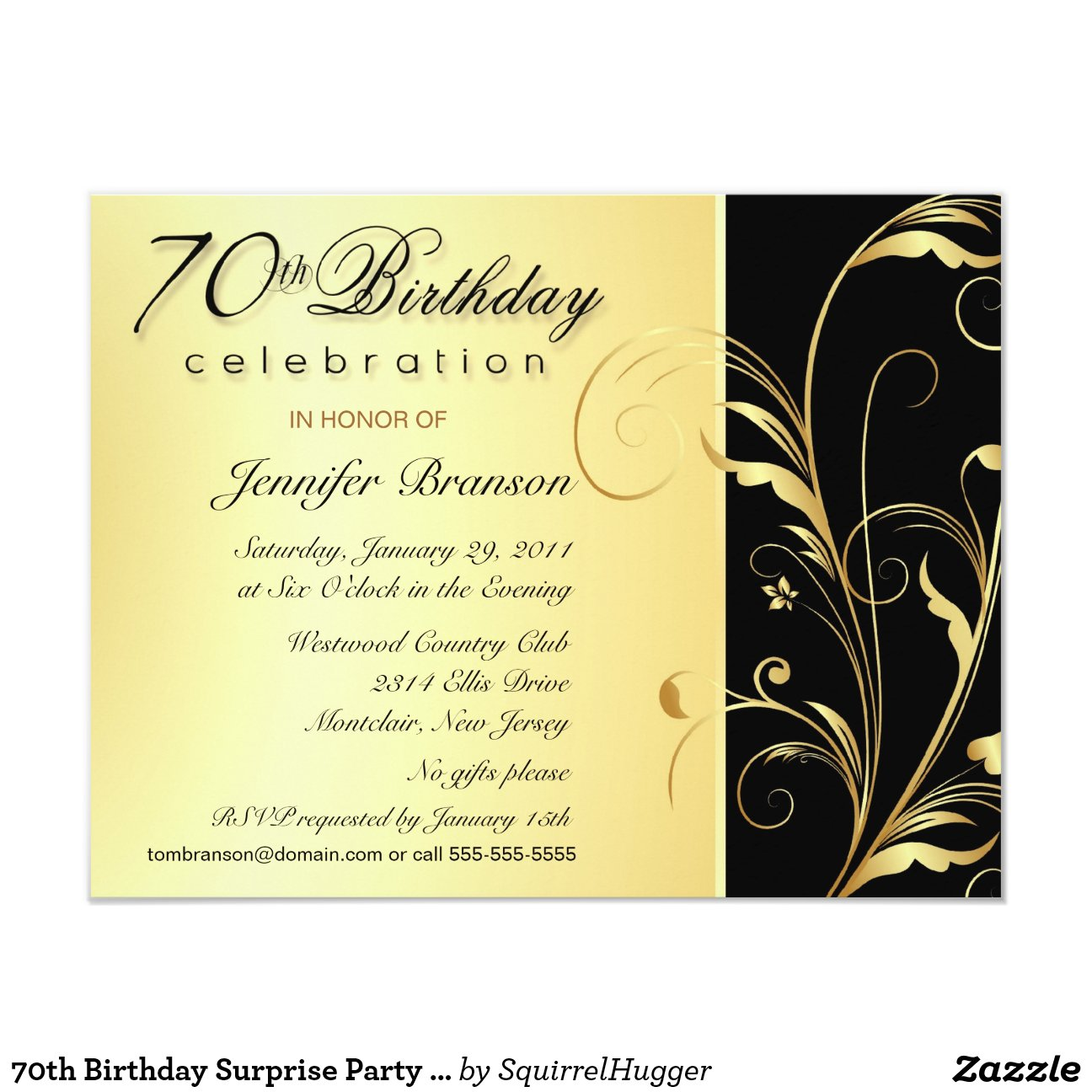 70th_birthday_surprise_party_invitations ...