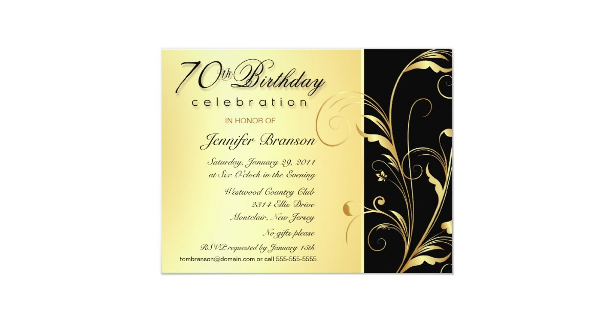 70th Birthday Surprise Party Invitations Zazzle Com