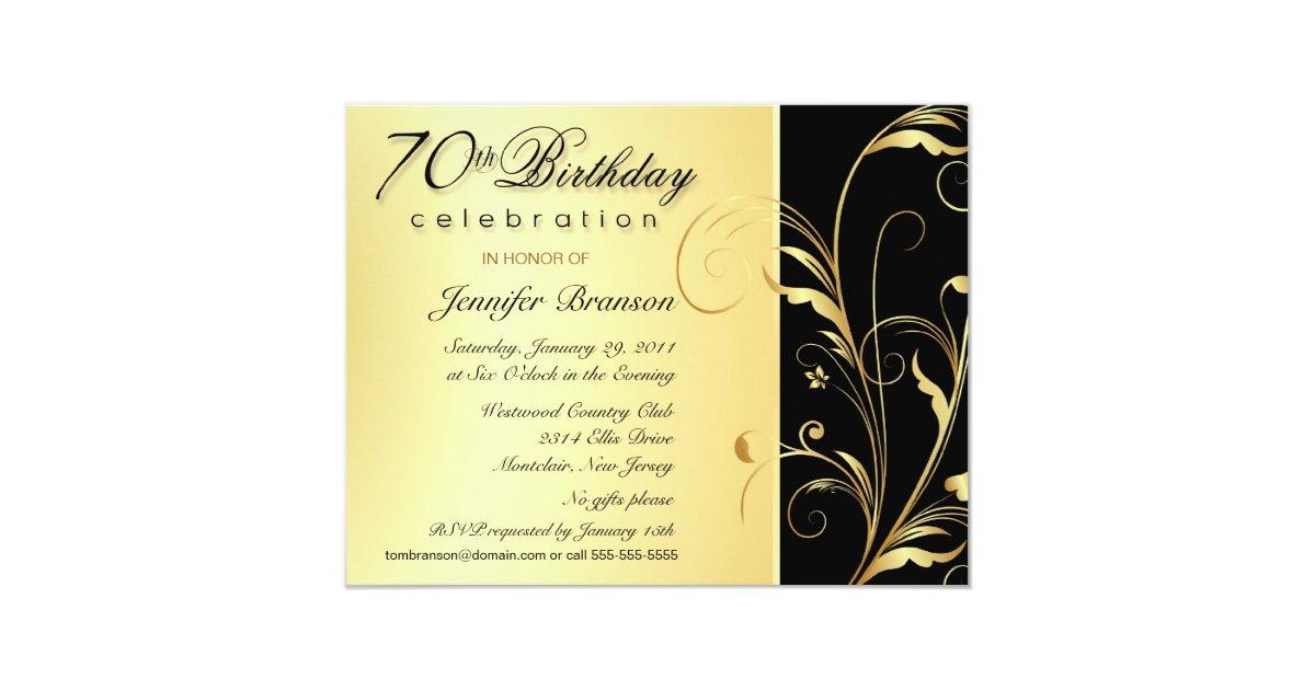 70th Birthday Surprise Party Invitations Zazzle Com